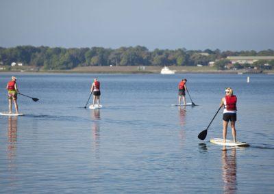 board-paddling